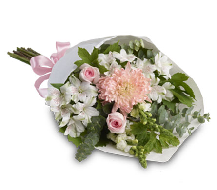 Description: This simple yet elegant bouquet is perfect for any occasion.