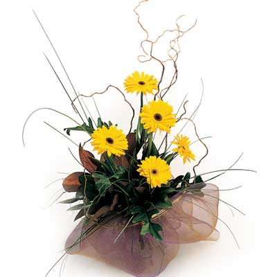 Description: The bouquet will bright sunshine to any dull day.