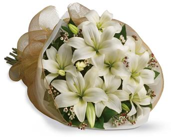 Description: Let someone know they are special by sending these fragrant blooms of bright white and cream lilies.