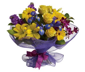 Description: Every day is a special day. Celebrate the beauty of life and love with this lush, lively mix of orchids, lilies, roses and gerberas.