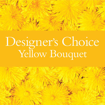 Description: Our designers will make up a unique bouquet using flowers from the yellow palette.