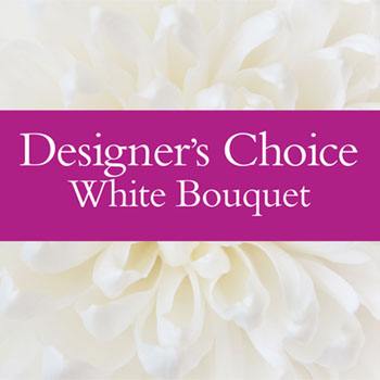 Code: D18. Name: White Bouquet. Description: Using a palette of white flowers we make up a white bouquet using todays fresh White flowers. Price: NZD $77.90