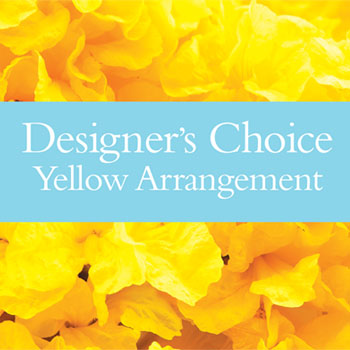 Description: Our designers will make up a unique arrangement using flowers from the yellow palette.