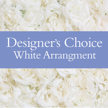 Description: Our designers will make up a unique arrangement using flowers from the white palette.