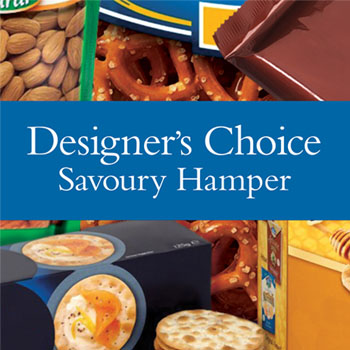 Code: D24. Name: Savoury Hamper. Description: Our designers choice of yummy savoury treats to make up a one of a kind Hamper. Price: NZD $124.90