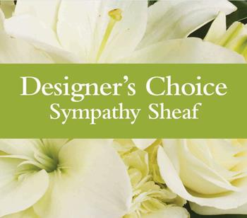 Code: D5. Name: Sympathy Sheaf. Description: Can not decide on what to send? The Designers Choice Sympathy Sheaf is a one-of-a-kind collection of the designers freshest flowers. Price: NZD $91.90