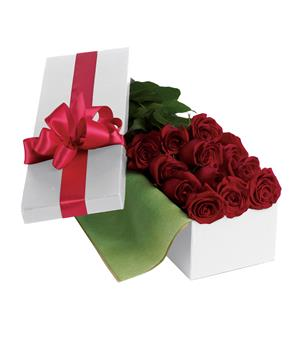 Description: Nothing says romance like one dozen long-stemmed red roses hand-delivered in an elegant gift box.