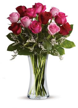 Description: Show them how you really feel with this impressive arrangement of red and pink roses! It is a grand gesture guaranteed to make them smile.