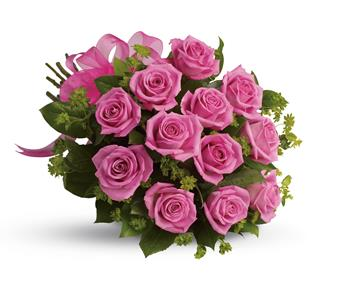 Description: Think of the thanks you will get when a bouquet of vibrant hot pink roses is delivered.