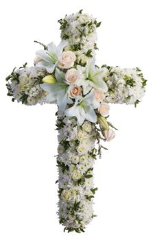 Description: Your message of hope for eternal serenity is delivered ever so elegantly in this graceful cross. Your sincerity will be acknowledged by all who are present.