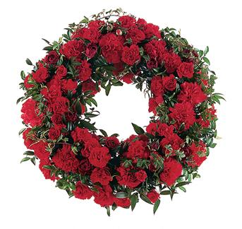 Description: This simple, yet stylish wreath shows the depth of your love and support.