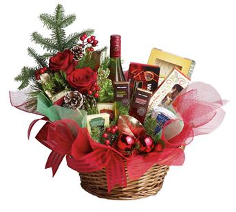Description: Even if your list seems like it is endless this year, sending a Christmas gift has never been so easy. This basket is fresh, festive and fabulous. Oh, and did we mention is delicious?