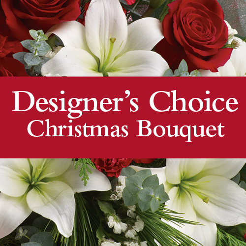 Code: X22DC. Name: Designers choice Christmas Bouquet. Description: Our florist will design a stunning Christmas bouquet for you, this is the most popular option. Price: NZD $77.90