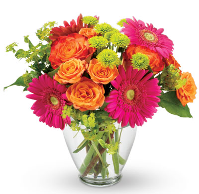 Description: Encourage a beloved friend to follow their rainbow with this bright, vivacious bouquet.