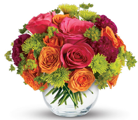 Description: Brighten Someone's Day with this charming arrangement. They'll love the gift, and you for having such amazingly good taste.