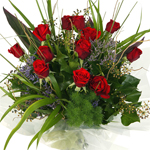 Red Roses, coloured Roses, Single and dozen bunches Northland